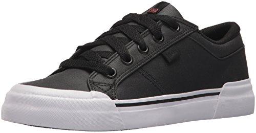 DC Women's Danni TX SE Skate Shoe, Black/Black/White, 9.5 B US