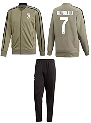 Kitbag Cristiano Ronaldo Juventus #7 Kids Soccer Tracksuit Track Jacket with Pants Youth Sizes