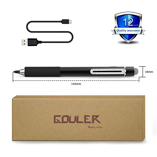 Gouler High-precision Stylus Pen with 2 in 1 Copper & Mesh Fine Tip Rechargeable Capacitive Digital Pen for iPad, iPhone, Android and Most of Touch Screen Devices by Gouler (Image #6)'