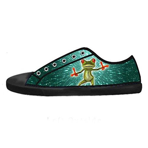 Lacci Da Canvas Shoes Alto Tela Delle In Ginnastica I Di Rana Sopra Custom Men's Divertente Scarpe Le qnpwHYq1xO