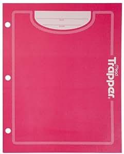 Mead Trapper Keeper 2-Pocket Folder, Pink (72195)