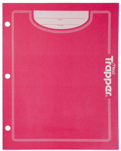 Mead Trapper Keeper 2-Pocket Folder, Pink (72195)