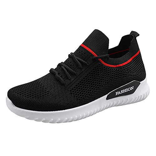 Succper Women's Leisure Breathable Mesh Outdoor Fitness Running Sport Sneakers Shoes Black (Air Jordan 1 Black And Gold For Sale)
