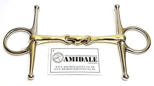 AMIDALE FULL CHEEK BIT,COPPER MIX, LOZENGE, BIT (4.50)