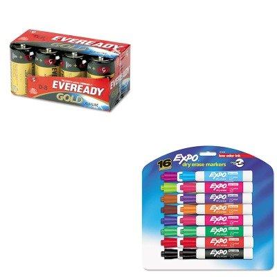 (KITEVEA958SAN81045 - Value Kit - Eveready Gold Alkaline Batteries (EVEA958) and Expo Low Odor Dry Erase Markers (SAN81045))