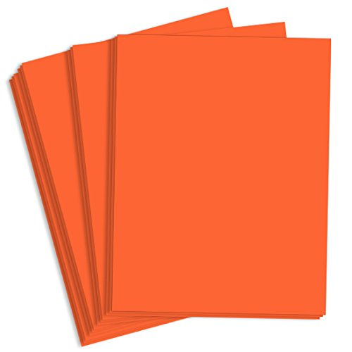 Orbit Orange Matte Cardstock, 8 1/2 x 11 Astrobright 65lb Cover, 2000 pack by LCI Paper