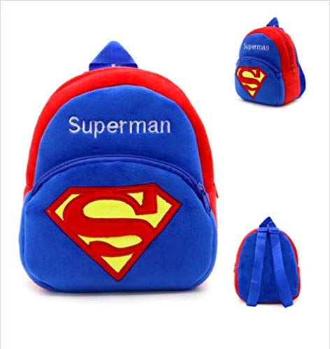 - Houzini New Cute Plush Superman Mini Backpack for Young Children Ages 3-5 Years Old, Generic