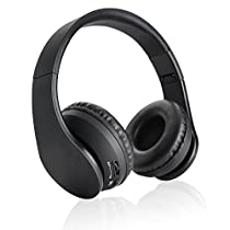 Wireless Headphones, Danibos On-ear Bluetooth Headphones Stereo Headphones with Built-in Microphone for iPhone 7 6s, Samsung Galaxy S7 and Android Phones. (Black)
