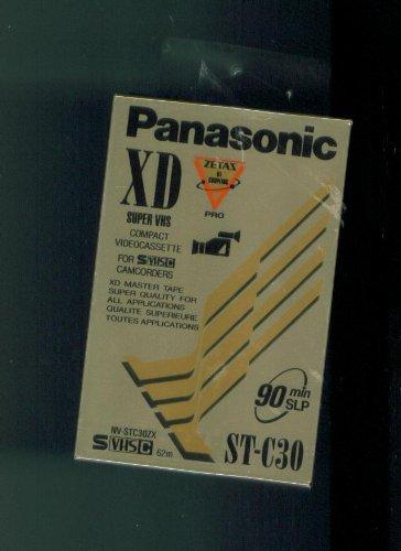 (Panasonic XD Super VHS Compact Videocassette for SVHSC CAMCORDERS XD MASTER TAPE. 90 MIN SLP)