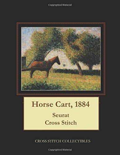 Horse Cart, 1884: Seurat Cross Stitch Pattern