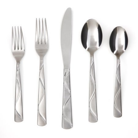 Cambridge Silversmiths Boa Frost 20-Piece Flatware Set
