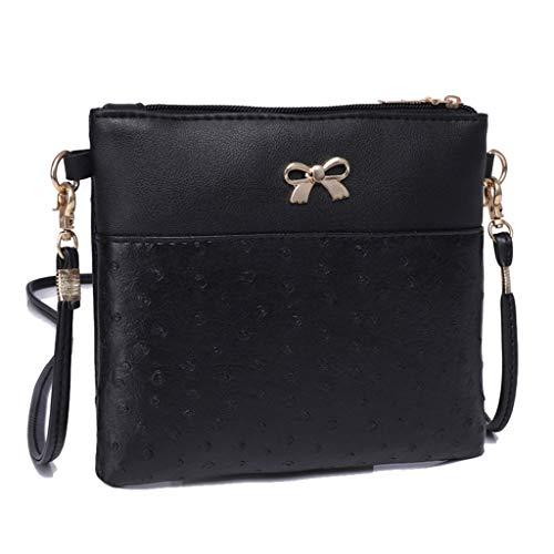 Women Bow Decoration Crossbody Bag Hit Color Shoulder Bags Messenger Bag by VEZAD (Image #1)
