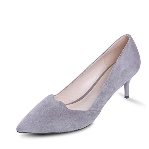 Zapatos Lado Y Altos Mujeres Boca Fino Las Profundos Del De Zapatos De Poco A Joker Zapatos Y Tacones De Corea Aire qwZEIf