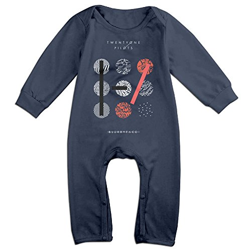 [Dara Twenty One Pilots Newborn Babys Long Sleeve Baby Climbing Clothes Navy 24 Months] (Diy Popcorn Costume)