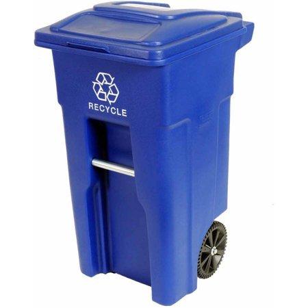 (Toter 32 Gallon 2-Wheel Recycling Cart blue)