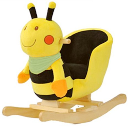 Plush Bubble Bee Baby Rocking Chair Kids Toy Ride Rocker Toddler by Rockers