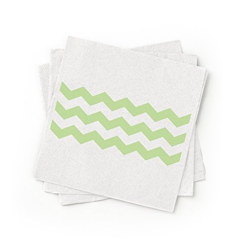 (Susty Party 100-Percent Recycled Paper Cocktail Napkin, Green, 200-Pack)