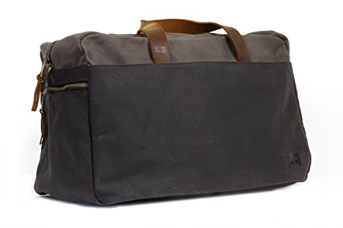 Waxed Cotton Canvas Duffel Bag with Leather Handles | the Whitman Weekender Duffel by FAT FELT by FAT FELT (Image #1)