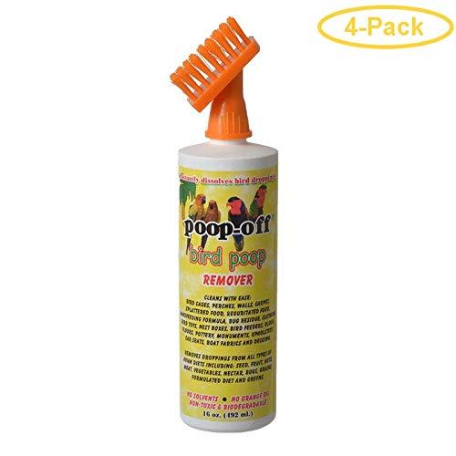 Poop-Off Bird Poop Remover with Brush 16 oz - Pack of 4 by Poop-Off