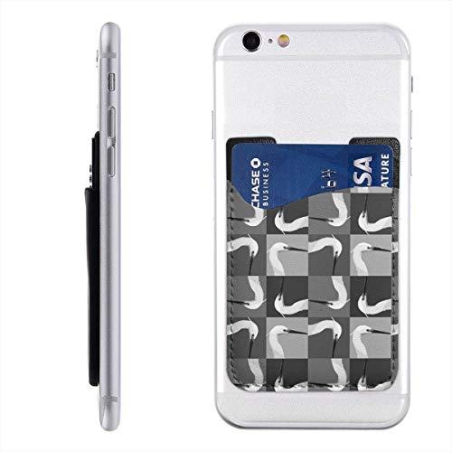 TYTland Egret Head Phone Pocket Stick On Wallet Card Holder for All Smartphones
