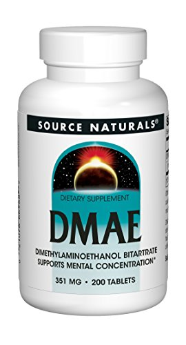Source Naturals DMAE Dimethylaminoethanol Bitartrate 351mg Supplement – 200 Tablets Review