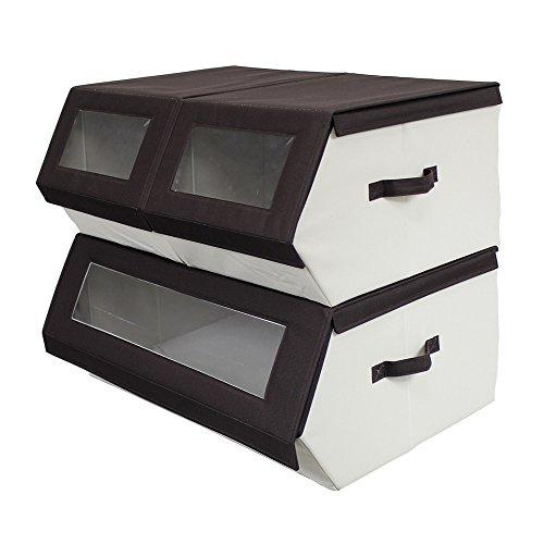 (Nouvelle Legende Closet Organizer Easy Storage Bins Collapsible Compartments Set of 3 Pieces)