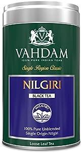 Vahdam, Nilgiri Tea, Tin Caddy, 100% Pure, Unblended, Single Origin Nilgiri Loose Leaf Black Tea - Grown, Packaged & Shipped Direct from Source in India -Perfect Tea Gift Set - 3.53oz (Pack of 1)