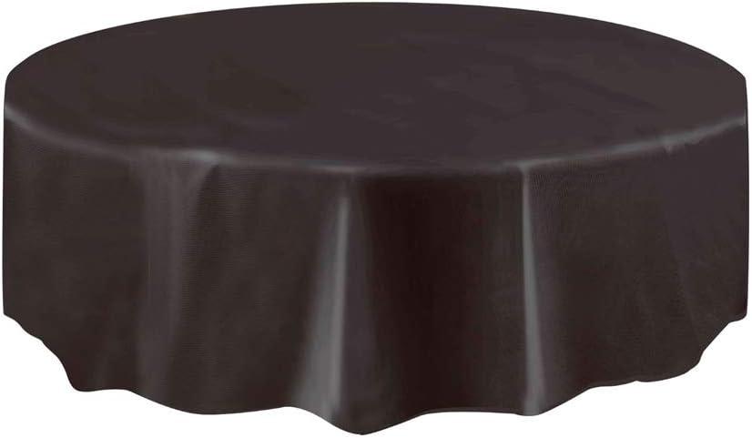 Mantel de Plástico Redondo - 2,13 m - Negro: Amazon.es: Hogar