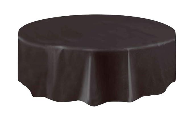 2 opinioni per Unique Party 50033- Tovaglia Plastificata Rotonda Nera, 2,13 m