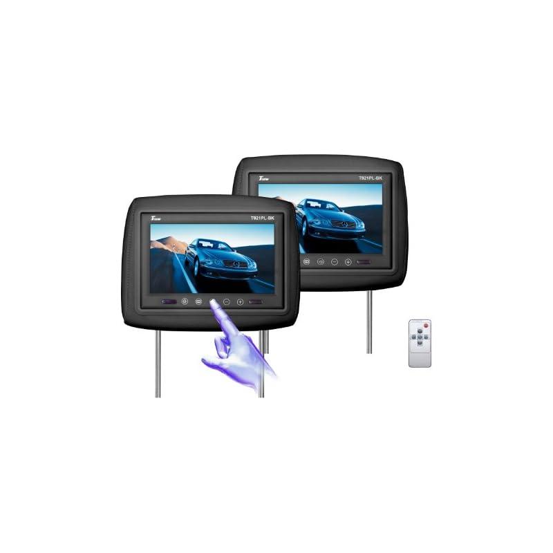 Tview T921PL-BK 9-Inch Monitor Built in Car Headrest (Black)