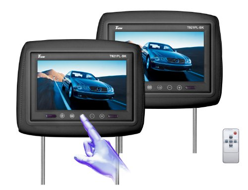 Tview T921PL-BK 9-Inch Monitor Built in Car Headrest (Black) by T-View