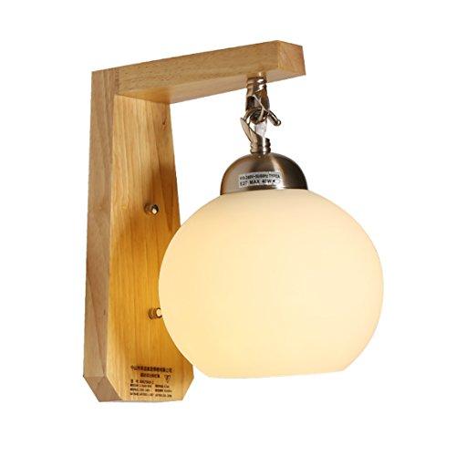 505 HZB Nordic Modern Bedside Lamp Real Wood Living Room Corridor Lamp ()