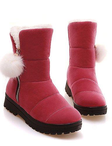 Brown Sintético us8 Redonda Casual Cn39 Red Uk6 De Botas Plano Tacón Vestido Punta marrón Mujer Exterior Cuero Eu39 Zapatos Cerrada Amarillo us8 Xzz O4qan
