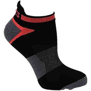 ASICS Women's Quick Lyte Cushion Single Tab Running Socks, Black Assorted, Medium,Pack of 3