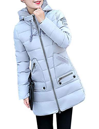 Coat Abrigo Ropa Termica Moda Chaquetas Oversize Sólidos Pluma Mujer Duradero Outerwear Espesar Otoño Plumas Colores Joven Abrigos Grau Invierno Moda Parkas 6F85Xq8