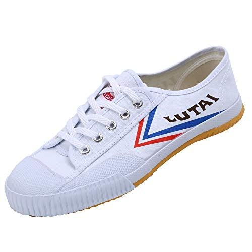 Men Women Canvas Kungfu Martial Arts Shoes Sneakers Lightweight Vulcanized Rubber Shoes for Kids White