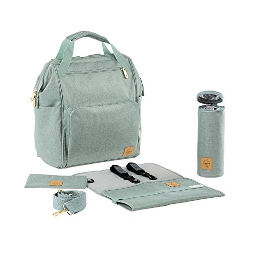 Lassig Women's Glam Goldie Backpack Baby Diaper Bag - Mint (Mint And Grey Diaper Bag)