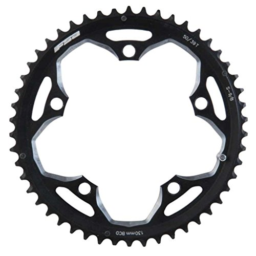 - FSA Pro Road 50T/130mm Triple S-9 Road Bicycle Chainring - 370-0150C, Black