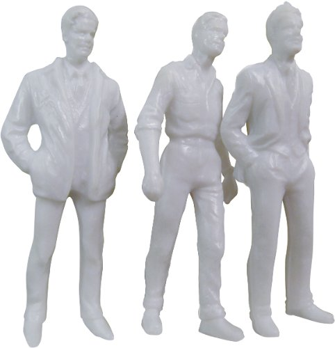 Wee Scapes Architectural Model White Styrene Figurines Human Males Pack of 10 0.3 Inches
