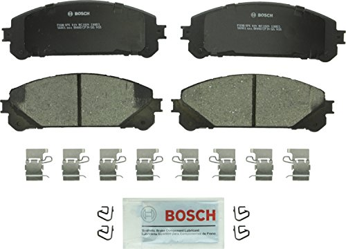 (Bosch BC1324 QuietCast Premium Ceramic Disc Brake Pad Set For: Lexus NX200t, NX300h, RX350, RX450h; Toyota Highlander, Sienna, Front)