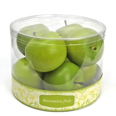 FT-2195 8pcs Scented Apple in Cylinder Box-12 Boxes (Green) by Flora Bunda