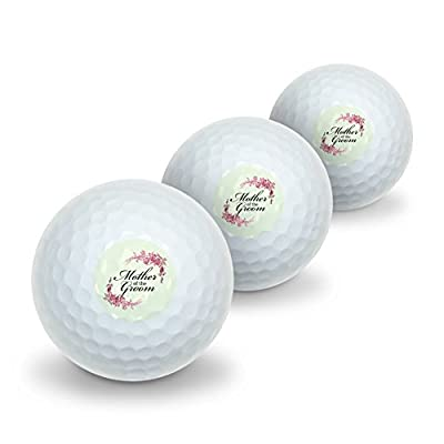 Wedding Floral Mother of the Groom Novelty Golf Balls 3 Pack