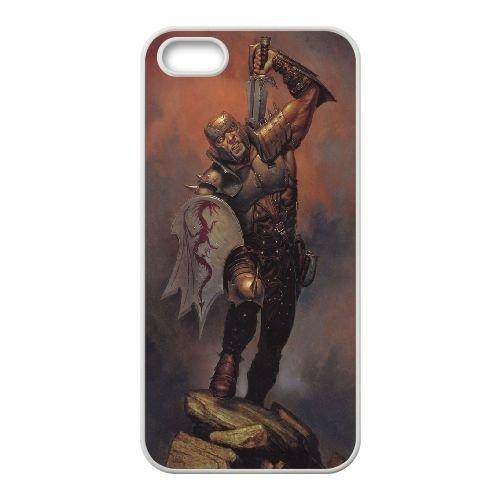 Dungeons Dragons 3333 coque iPhone 5 5S Housse Blanc téléphone portable couverture de cas coque EOKXLLNCD18162