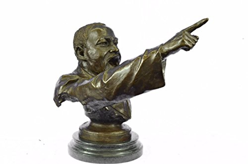 - Handmade European Bronze Sculpture Limited Edition Martin Luther King Jr Baptist minister Bronze Statue -UKXN-1248-Decor Collectible Gift