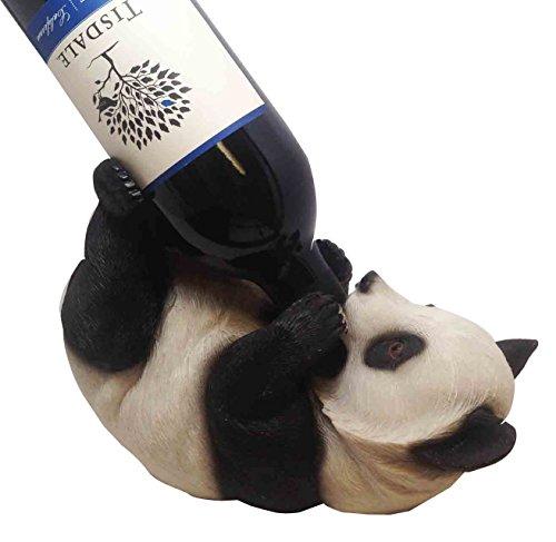 CHINA PANDA WINE HOLDER KITCHEN DECORATION SCULPTURE STATUE For Sale
