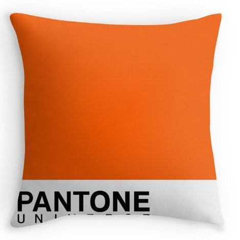 rongxincailiaoke Taies doreillers Custom Cotton Polyester Pantone Orange 031C Pillow Case 18 X18 Two Side