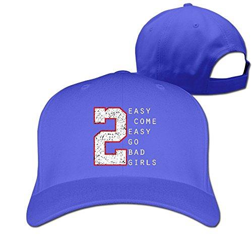 Sandwich Peaked Cap 100% Cotton Easy Come Easy Go Bad Girls Personalized Style HatsNew Design Cool Hat (Tom Jones Fancy Dress Costume)