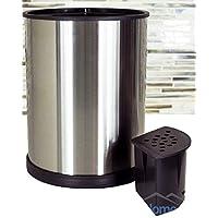 Soporte para utensilios de cocina de acero inoxidable - Soporte para utensilios de cocina giratorio hecho de acero inoxidable cepillado resistente a las huellas dactilares