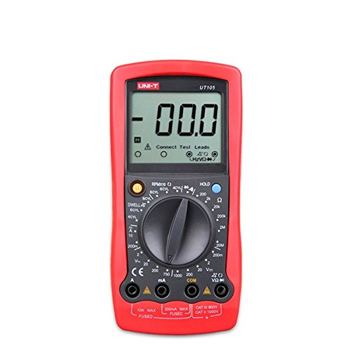 Universal Jumper Lead Set (UT105 LCD Handheld DC/AC Digital Automotive Multimeter Multipurpose Meters Car Repairing Multimeter)