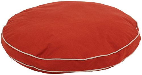 Cpc Classic Cotton/Twill Round-A-Bout Bed for Pets, 42-Inch, Red ()